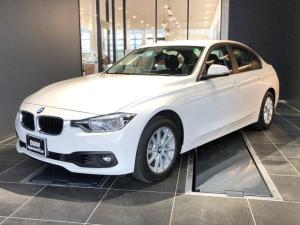 BMW 3シリーズ 318i 禁煙1オーナー車 LEDヘッドライト SOSコール  マルチファンクションステアリング クルーズコントロール バックカメラ 後方センサー インテリジェントセーフティー 黒布パワーシート