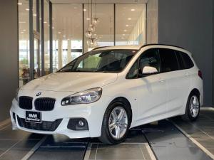 BMW 2シリーズ 218dグランツアラー Mスポーツ 弊社下取り1オーナー 禁煙車 ルーフレール インテリジェントセーフティ 電動リアゲート バックカメラ 後方センサー LED パドルシフト HDDナビ アルカンターラスポーツシート ベースキャリア付