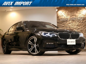 BMW 7シリーズ 740d xDrive Mスポーツ リアコンフォートPKG SR 茶革 全席シートヒーター&ベンチレーター 純正HDDナビ地デジ harman/Kardon リアエンターテイメント HUD&PDC トップビュー+3Dビュー BMWレーザーライト Dアシスプラス