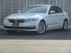 BMW 5シリーズ 523d ラグジュアリー 黒革 シートヒーター LEDヘッドライト 18インチアルミ アクティブ クルーズ コントロール レーンチェンジ ウォーニング ドライビング アシスト 前後カメラ トップビューカメラ