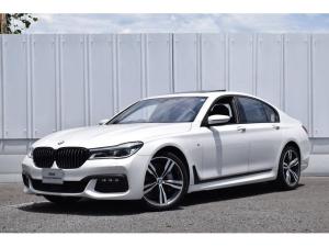 BMW 7シリーズ 740i Mスポーツ レーザーライト 地デジ ナビ 地デジ モカ革 ACC HアップD 20AW サンルーフ  前後センサー 全周囲カメラ 前後シートヒーター ソフトクローズドア ディスプレイキー ステアリングアシスト