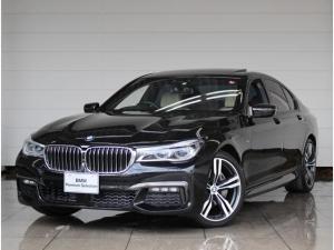BMW 7シリーズ 740d xDrive Mスポーツ ドライバーアシストプラス 衝突被害軽減ブレーキ ステアリング&レーンキープアシスト ソフトクローズドア コンフォートシート レーザーライト ガラスサンルーフ 4ゾーンエアコン アイボリーレザーシート