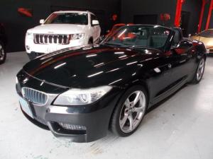 BMW Z4 sDrive23i Mスポーツパッケージ 電動オープン キセノンヘッドライト 黒革シート 電動シート シートヒーター プッシュスタート スマートキー 純正HDDナビ 地デジフルセグテレビ CD録音 DVD再生 スペアキー