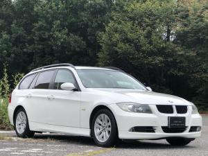 BMW 3シリーズ 320iツーリング 取扱説明書・整備記録簿・禁煙・ETC・ナビ・CD・DVD・AUX・本革シート・パワーシート・シートヒーター・キセノン・オートライト・ルーフレール・ATマニュアルモード・純正16インチアルミホイール
