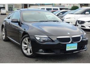 BMW 6シリーズ 630i サンルーフ キセノンライト オートライト プッシュスタート スマートキー CD ETC クリアランスソナー ブラックレザーシート 前席パワーシート シートヒーター パドルシフト クルーズコントロール