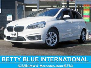 BMW 2シリーズ 218dアクティブツアラー インテリジェントセーフティー パーキングサポートP 純正HDDナビ Bカメラ ミラーETC 純正アルミ LEDライト レーンディパーチャーウォーニング 衝突軽減B ECOストップ コンフォートアクセス Pトランク 8速AT