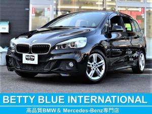 BMW 2シリーズ 218iグランツアラーMスポーツ インテリジェントセーフティ アルカンタラコンビスポーツ3列シート 純正HDDナビ Bカメラ Mエアロ/M17AW LEDライト ヘッドアップディスプレイ 衝突軽減B レーンディパーチャーウォーニング パワーテールゲート 7人乗り