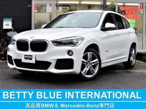 BMW X1 sDrive18i Mスポーツ インテリジェントセーフティー 純正HDDナビ DVD CD MSV Bカメラ ミラーETC Mエアロ M18インチアルミ LEDライト レーンディパーチャーウォーニング 衝突軽減B ECOストップ コンフォートアクセス Pトランク