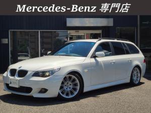 BMW 5シリーズ 525iツーリング Mスポーツパッケージ 下取車 M付きパワーシート ハーフレザー Mスポーツ純正18AW 2.5リッター直列6気筒エンジン搭載 PUSHスタート Xenonヘッドライト Mスポーツエアロ iDriveナビ ETC 禁煙車