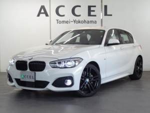 BMW 1シリーズ 118d Mスポーツ エディションシャドー 限定車 ブルーステッチ入りブラックレザーシート&ヒーター ACC 純正HDDナビ バックカメラ PDC コンフォートアクセス 専用18インチアルミ ダークLEDヘッドライト&テールランプ