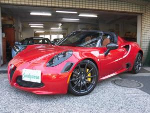 アルファロメオ 4Cスパイダー 107thエディション 左ハンドル ブラウン革 新車保証