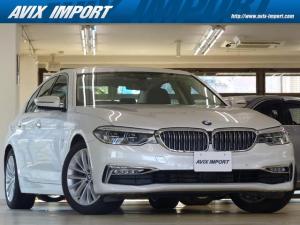 BMW 5シリーズ 523d ラグジュアリー コンフォートP 黒革 HDDナビ地デジTOP&3Dビューカメラ 前後席シートヒーター 前席ベンチレーション LEDライト Rブラインド Dアシストプラス ACC ハイビームアシスト PDC 禁煙
