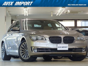 BMW 7シリーズ 740i コンフォート&プラスP 後期型 茶革 SR HDDナビ地デジBカメラ LEDライト 電動トランク ソフトクローズドア 全席シートヒーター 前席ベンチレーション Rブラインド 4ゾーンAC 鍛造19AW