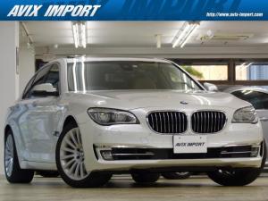 BMW 7シリーズ 740i エグゼクティブED 最終型 茶革 SR HDDナビ地デジS&Bカメラ TOPビューカメラ ACC HUD LEDライト ECO LCW Pアシスト 全席Sヒーター 前席ベンチレーション 19AW