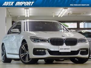 BMW 7シリーズ 740d xDrive Mスポーツ RコンフォートP Rエンタメ 茶革 SR レーザーライト HDDナビ地デジTOP&3Dビューカメラ 20AW HUD ACC ハーマンカードン 全席Sヒーター&ベンチレーション Dアシストプラス 禁煙