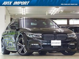 BMW 7シリーズ 740i Mスポーツ 黒革 SR HDDナビ地デジ トップビュー+3Dビュー ハーマンカードン HUD ACC BMWレーザーライト Dアシストプラス 前後席シートヒーター 前席ベンチレーション Rブラインド 20AW