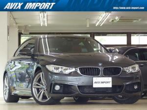 BMW 4シリーズ 435iグランクーペ Mスポーツ 茶革 HDDナビ地デジS&B&TOPビューカメラ ACC HUD LEDライト スタートストップS Cアクセス Pアシスト 前後席Sヒーター レーンディパーチャー 衝突被害軽減ブレーキ 自動トランク