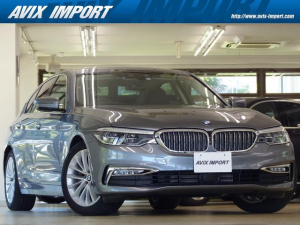 BMW 5シリーズ 523d ラグジュアリー イノベーションP 黒革 HDDナビ地デジTOP&3Dビュー リモートパーキング 全席Sヒーター HUD LED Rブラインド ACC LCW Pアシスト 自動トランク ジェスチャーコントロール 禁煙