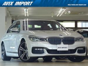 BMW 7シリーズ 740eアイパフォーマンス Mスポーツ RコンフォートP 茶革 SR HDDナビ地デジTOP&3Dビュー BMWレーザーライト Rエンタメ ハーマンカードン 全席Sヒーター&クーラー Dアシストプラス HUD 自動トランク 20AW 禁煙