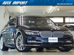 BMW 7シリーズ 740i DピュアエクセレンスP 白革 SR HUD HDDナビ地デジTOP&3Dビューカメラ ハーマンカードン Dアシストプラス 前後席Sヒーター 前席ベンチレーション 自動トランク 専用20AW 1オナ