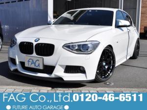 BMW 1シリーズ 116i Mスポーツ 純正HDDナビ CD録音 DVD再生 Bluetooth 車高調 社外18AW 社外リップ&リヤアンダースポイラー Mパフォーマンスリヤウィング