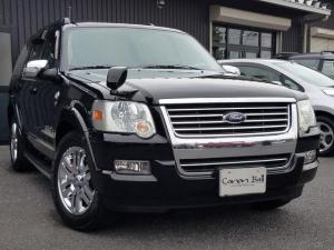 フォード エクスプローラー リミテッド限定車専用黒本革タルミチークウッド内装サンルーフ