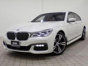 BMW 7シリーズ 740d xDrive Mスポーツ 電動ガラスサンルーフ ワンオーナー 20インチAW ヘッドアップディスプレイ LEDヘッドライト アクティブクルーズコントロール i-Driveナビゲーション バックカメラ USB/Bluetoothオーディオ