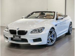 BMW M6 カブリオレ ベージュレザー シートヒーター 電動シート 地デジチューナー ヘッドアップディスプレー アダプティブLEDライト ETCミラー パドルシフト レーダー探知機 電動幌 20インチアルミホイール