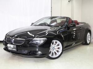 BMW 6シリーズ 650iカブリオレ 後期モデル/保証付き/電子シフト/パドルシフト/ワイン本革メモリーパワーシート/シートヒーター/電動オープン/記録簿付き