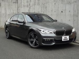 BMW 7シリーズ 750i Mスポーツ ワンオーナー 左ハンドル モカレザーシート ガラスサンルーフ コンフォートアクセス リアコンフォートパッケージ・リアエンターテイメント 純正ナビゲーションシステム TV 全席シートヒーター・クーラー