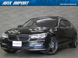 BMW 7シリーズ 750Li 右H Dアシスト+ 純正リアエンタ パノラマSR 黒革 ナビ TV PDC ACC パワーシート シートヒーター ベンチレーター コンフォートアクセス レーザーライト ACシュニッツァー20AW