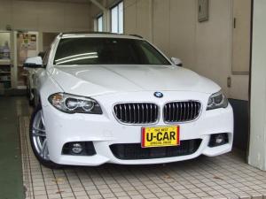 BMW 5シリーズ 523iツーリング Mスポーツ 茶本革・M付Pシート・シートヒーター・パノラマ電動ガラスサンルーフ・純正ナビ・TVフルセグ・Bカメラ・ETC・アダブティブクルーズコントロールACC・コンフォートアクセス・パワーテールゲイト