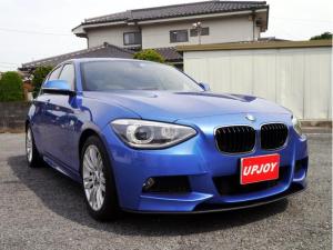 BMW 1シリーズ 116i Mスポーツ 1600ccターボエンジン 8速オートマ FR駆動 エストリアルブルー Mスポーツ 17インチAW スポーツシート アイドリングストップ ナビ バックカメラ 記録簿