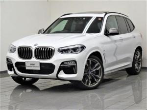 BMW X3 M40d ブラックレザー パノラマガラスサンルーフ アンビエントライト ハイビームアシスタント ドライバーアシストプラス パーキングアシストプラス ハーマンカードンサラウンドサウンドシステム 21AW