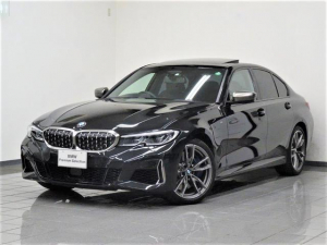 BMW 3シリーズ M340i xDrive ブラックレザー ガラスサンルーフ アクティブクルーズコントロール リヤビューカメラ パーキングアシストプラス BMWレザーライト ヘッドアップディスプレー 19インチMダブルスポークアロイホィール