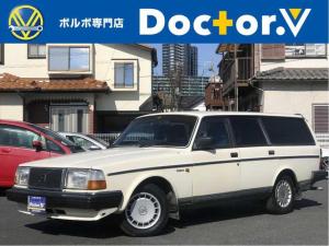 ボルボ 240ワゴン 240ワゴン 希少ボーンホワイト ブルーインテリア 保証付