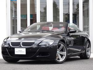 BMW M6 カブリオレ ボルドー革 シートヒーター 純正19インチアルミ DSPサウンド 地デジTV 純正IドライブHDDナビ バックカメラ ETC 禁煙