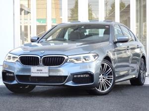 BMW 5シリーズ 530e Mスポーツ セレクトパッケージ サンルーフ 黒レザーシート ハーマンカードンHiFiスピーカー 地デジ付タッチパネル式ナビ ヘッドアップディスプレイ リアエアコン+リアシートヒーター 19インチアルミ ACC