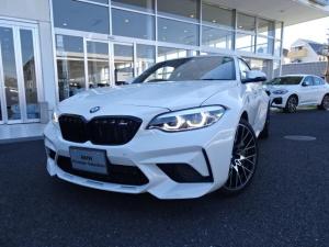 BMW M2 コンペティション ワンオーナー 黒レザーシート タッチパネル式HDDナビ ハーマンカードン・サラウンド・サウンドシステム アダプティブLEDヘッドライト 19インチアルミ パドルシフト バックカメラ リアガラスフイルム
