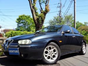 アルファロメオ アルファ156 2.5 V6 24V ARQRAYマフラー 黒革 Fエンブレム交換 HIDヘッドライト アルファロゴ入りシート