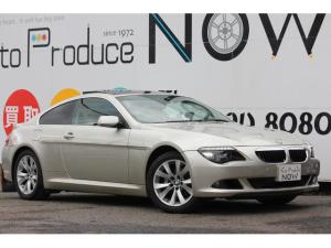 BMW 6シリーズ 630i 630i(4名) パノラマサンルーフ 後期最終モデル 全車検時記録簿 禁煙車 フルセグTV コンフォートアクセス 純正18インチAW ブラックレザー シートヒーター パドルシフト