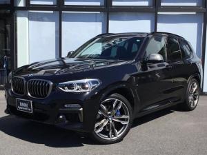 BMW X3 M40d サンルーフ全席シートヒーターAdaptiveLEDヘッドアップディスプレイ前車追従機能トップビューカメラ前方ドラレコワイヤレスチャージャー全方位障害物センサーCD/DVDオートトランク