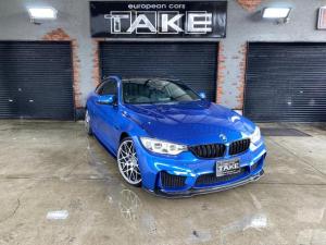 BMW 4シリーズ 420iクーペ Mスポーツ M4仕様 1オナ ビルシュタイン車高調 スリットドリルドローター performanceキャリパー 各種コーディング カーボンラッピングルーフ 4本出しマフラー 地デジナビ ヘッドアップディスプレイ