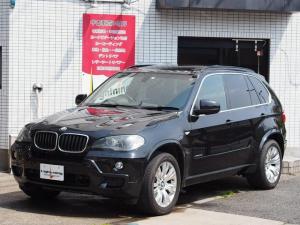 BMW X5 xDrive30iMスポーツ タイヤ新品交換 黒レザー SR