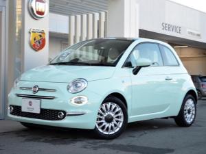 フィアット 500 1オーナー 新車保証継承 2DINナビ ドラレコ ETC