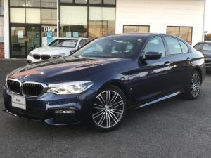 BMW 5シリーズ 530e Mスポーツ 認定中古車 衝突軽減B ACC Bカメラ 前後障害物センサー 電動シート&テールG 黒レザー シートヒーター ミラー内蔵型ETC LED SOSコール 純正HDDナビ 純正19AW AライトRセンサー
