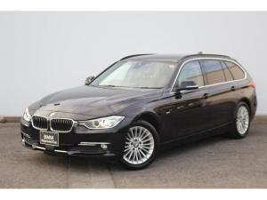 BMW 3シリーズ 320dブルーパフォーマンス ツーリングラグジュアリ ブラックレザー・被害軽減ブレーキ・車線逸脱警告・ACC・社外地デジTV