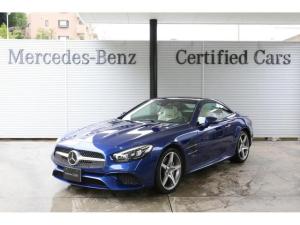 メルセデス・ベンツ SL SL400 ブリリアントブルー 内装色ポーセレン(白ナッパレザーシート) ダッシュボードクロック レーダーセーフティパッケージ ABCサスペンション 19インチAMG5スポークAW 認定中古車2年保証
