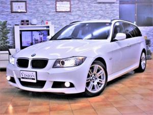 BMW 3シリーズ 320iツーリング Mスポーツパッケージ E91後期最終直噴170ps M-Sp専用装備 Mエアロ スポーツサス スポーツパワーシート 専用17inAW Cアクセス スマートキー i-driveナビ Bカメラ MSV キセノン 取説Sキー付