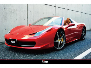 フェラーリ 458スパイダー ベースグレード カーボンインテリア フロントリフター JBL タンレザーシート ベタつき対策済